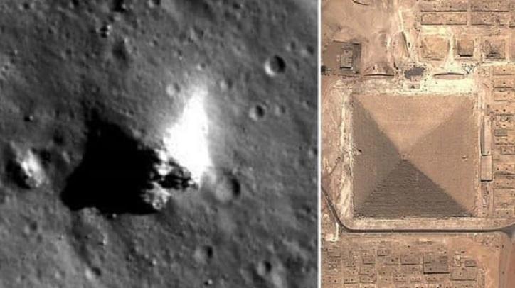 NASA-Bilder zeigen deutlich eine Pyramide auf dem Mond