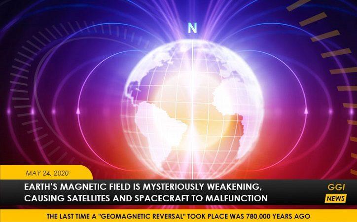 Das Erdmagnetfeld Schwächt Sich Zwischen Afrika Und Südamerika Ab, Stürzt Laptops Ab Und Stört Satelliten