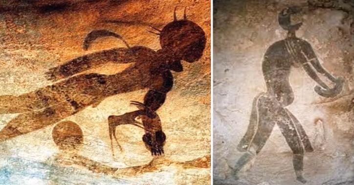 Alte Höhlenmalereien von Astronauten in Sahara-Höhlen entdeckt